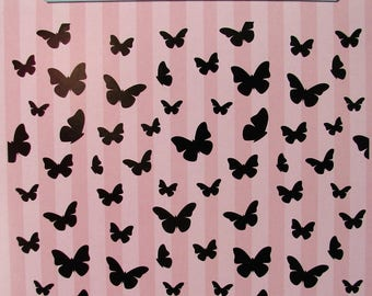 Embossing folder - embossing - 15 * 15 - butterflies - butterfly - vintage - cardmaking - scrapbooking - big shot
