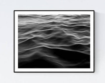 Water poster, ocean water poster, calm water print, water photography, water surface poster, nautical poster, water wall art, water room art
