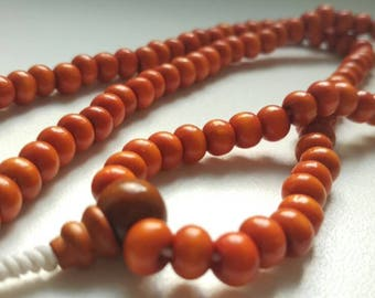 Red 108 wood mala for meditation