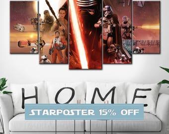 Star wars, The Force Awakens, Kylo Ren canvas, Kylo Ren, Rey canvas, Star wars print,  Star wars 7, Star wars poster, Star Wars canvas