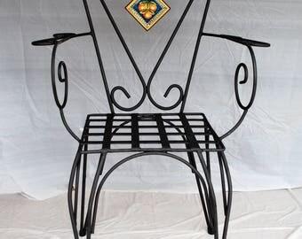 "Sicilian Wrought Iron Chair ""Palermo"""