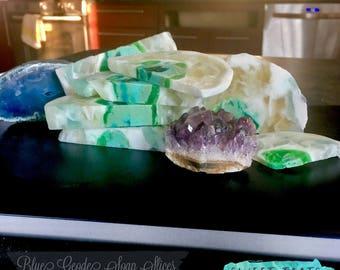 Crystal Geode Soap Slice