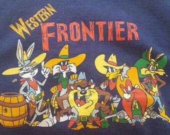 vintage Looney Tunes Western Frontier crewneck sweatshirt