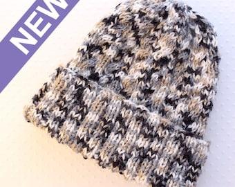 BONNET à torsades unisexe tricoté à la main
