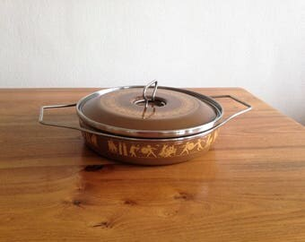 Dutch oven enamelled - Italian - Siltal - Roman decor - mid century