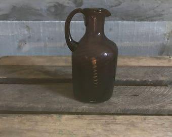 Purple Glass Jug Vase