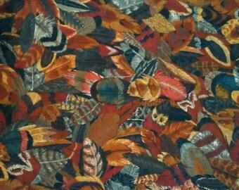 Bird Feather Print Fabric