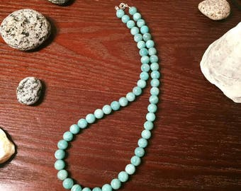 Amazonite Necklace & Sterling Silver 925