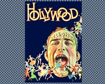 Embroidery Hollywood movie poster. Digitized Image from Public Domain.