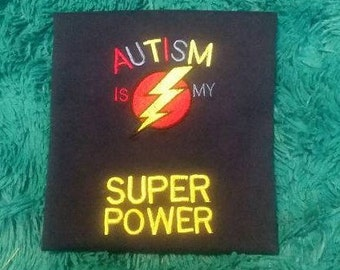 Personalized AUSTISM SUPER POWER Embroidered Shirt