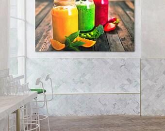 Juice Canvas, Fruit Art, Kitchen Wall Art, Juice Print, Kitchen Print, Kitchen Canvas, Fruit Canvas, Kitchen Poster, Healthy Food painting