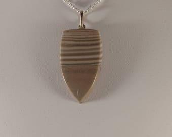 Tan/Off White Rock Pendant