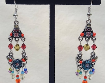 Indian Style Crystal Earrings