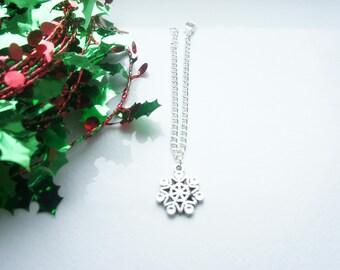 christmas gift, snowflake bracelet, snowflake anklet, christmas present, christmas present for her, stocking filler