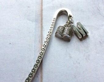 Personalised bookmark, Initial bookmark, Book accessory, Vintage personalised bookmark, Book charm, letter charm bookmark, book accessory,
