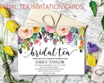 Bridal Tea Party Invitation, Suplime Bridal Tea Invite Template,  Suplime Bridal Tea Bridal Tea, Bridal Tea Party, INSTANT DOWNLOAD, BR-S05