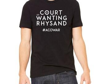 ACOWAR Shirt, A Court of Wings and Ruin Shirt, ACOTAR Shirt, ACOMAF Shirt, Rhysand Shirt, Sarah J Maas