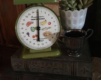 Vintage Green Kitchen Scale