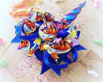 Unicorn Horn Iridescent Headband , Beauty Bow, unicorn horn, unicorn band, iridescent horn