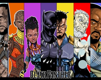 Black Panther (Signed Print)