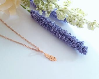 Rose Gold Feather Necklace,Dainty Rose Gold Necklace, Rose Gold Chain, Rose Gold Necklace, Minimal Jewellery, Dainty Necklace