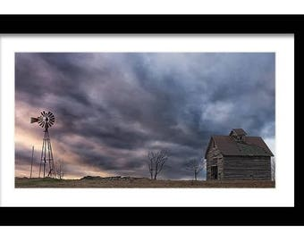 Bold Barns and Brilliant Skies Collection, Marker 213, Fine Art Full Color Photographic Print