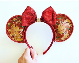 Disney Inspired Christmas Mouse Ears - Gingerbread Mouse Ears
