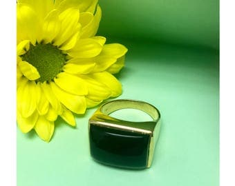 Black Onyx Ring/ Statement Ring / Bold Ring / Geometric Ring