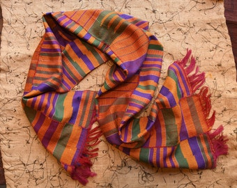 Kente scarf, Christmas kente Cloth scarf