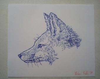 Sketch of a fox