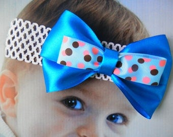 Baby headband,  Vintage pink flower and pearl headband for all ages, pretty vintage pink, adorable for newborn photo shoots, Bright onions