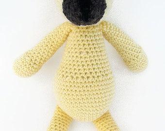 Yellow Crochet Teddy Bear, Crochet Bear Plushie, Stuffed Bear Toy, Crochet Toys,Nursery Decor, Crochet Stuffed Animals, Crochet Toy Bear