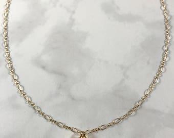 Dainty Black Druzy 18k Gold Fill Necklace