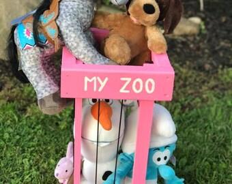 My Perfect Zoo, stuffed animal zoo, stuffed animal cage, my zoo, zoo, rustic beauty creations