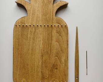 Pre-order>Pineapple Sculptural Weaving Kit for Children <<Walnut>>