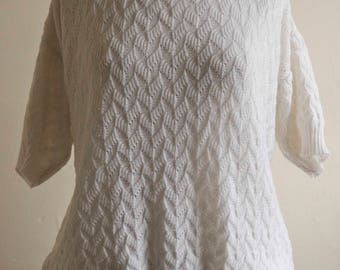 White Knitted T-Shirt
