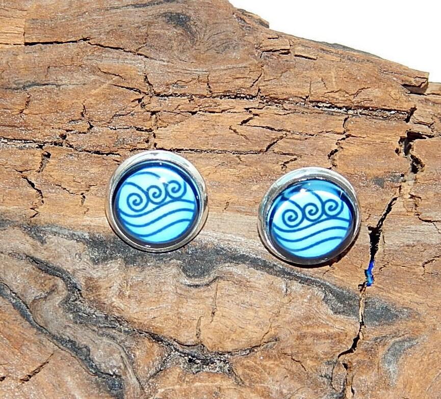 Avatar Earrings Avatar The Last Airbender Avatar Water Tribe Logo