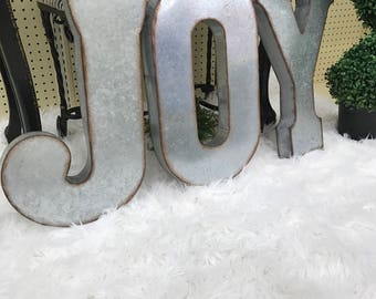 On Sale 1 Galvanized Metal Letter, One Large 20 inch letter, vintage, distressed finish, choose your letter, Metal wall decor