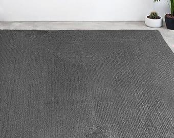 Gray Jute Rug. Natural Handwoven Rug. Gray Natural Rug. Gray Grey Jute Rug. Scandi Rug. Nordic Home Decor. Eco Rug