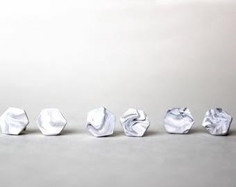 Hexagon Stud Earings // Minimal . Simple . Clean // truthxtoil