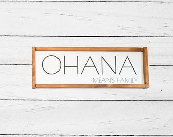 Ohana means family - Wall hanging - Ohana Quote - Lilo and Stitch