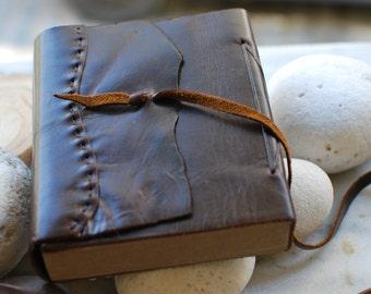 Premium Leather Journal Notebook or Sketchbook,Rustic Brown, Saddle Tan, Dark Brown,Recycled ,Handmade Paper Fair Trade.