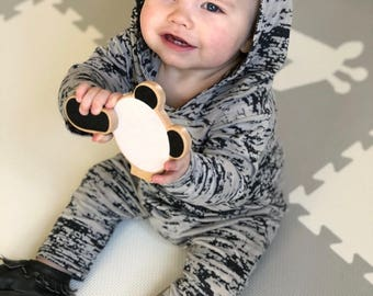electric camo romper, camoflauge romper, harem coverall, baby boy romper, baby boy winter romper, winter baby shower gift