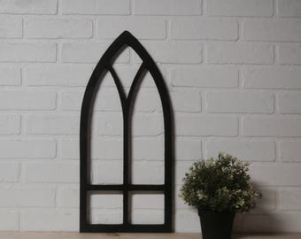 Pointed Cathedral Arched Wooden Window Frame