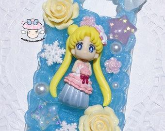 Samsung S7 - Ready to Ship- Sailor moon wedding theme princess serenity limited edition kawaii decoden case