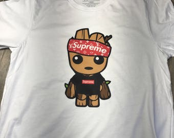 Baby Groot LV Shirt / No Cigar In Mouth / Baby Groot LV shirt / Supreme Style / Baby Groot Shirt