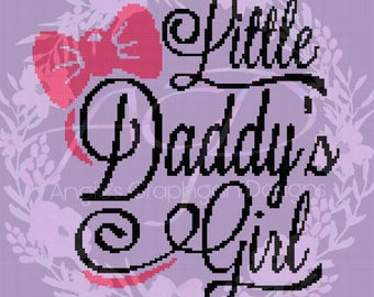 Daddy's Little Girl Crochet Pattern with Written Instructions