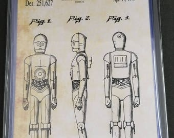 Star Wars Characters Patent Art Prints Set