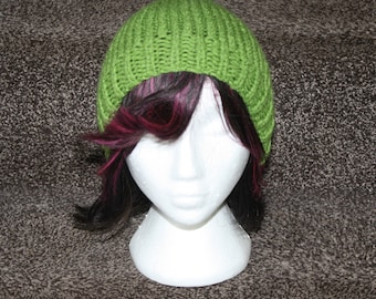 Hand knitted slouchy beanie.
