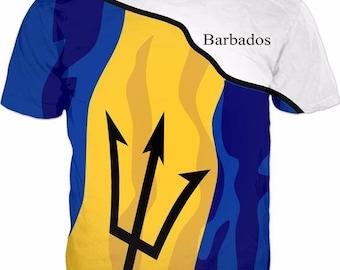 Barbados Men's Flag Tee